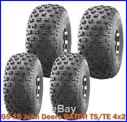 Set 4 Utility ATV tires 22.5x10-8 & 25x12-9 for 05-16 John Deere GATOR TS/TE 4x2
