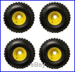 Set Of 4 John Deere Gator 4X2, 6X4 25X12.0-9 Rear Wheels And Tires