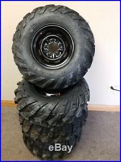Set Of 4 RUN FLAT 26X11.00-12 26X9.00-12 John Deere Gator Wheels & Tires