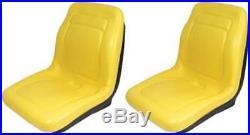 Set of 2 18 Yellow Seats For John Deere Gator 4X4 4X2 4X6 Quality replace