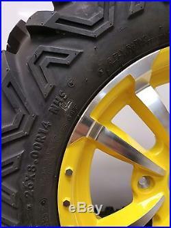 Set of (2) OEM 26X8.00-14 John Deere Gator RSX 850I 4 Lug Wheels And Tires
