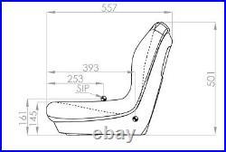 Sitzschale passend für John Deere Rasentraktor Aufsitzmäher Gator Castel Garden