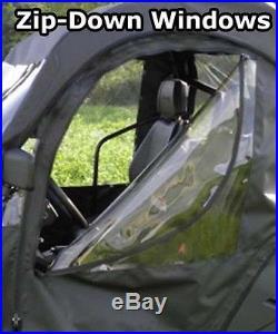 Soft Doors for John Deere Gator 850i Zip Down Windows Commercial Heavy Duty