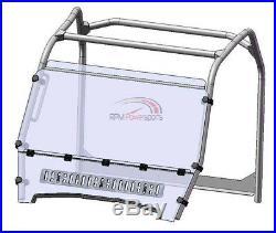 Spike Vented Full Front Windshield John Deere Gator HPX 620i 825i XUV 850 855D