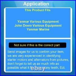 Starter Motor John Deere Mowers, UTV Gator, Tractors Yanmar 3TN66, 3TN68 200-569