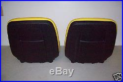 TWO NEW YELLOW HIGH BACK SEATS JOHN DEERE GATORS. Made in the USA by MILSCO #JR