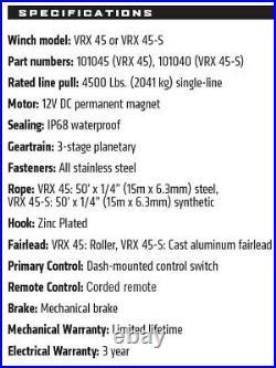 Warn Vrx 4500 Utv Winch Kit For All Years John Deere Gator Hpx 815e